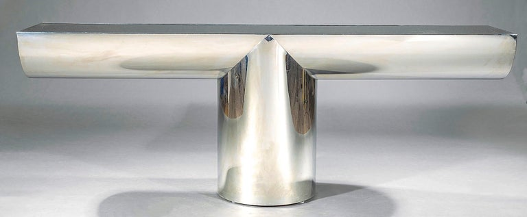 American J. Wade Beam for Breuton Stainless Steel and Glass