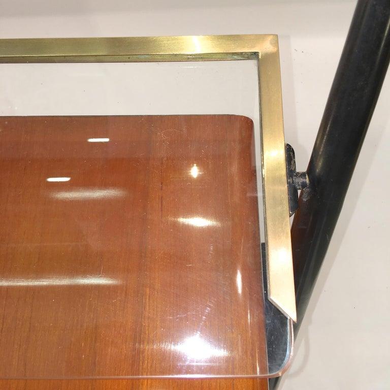 Silvio Cavatorta Mahogany Cabinet Mounted with Tilting Mirror For Sale 1