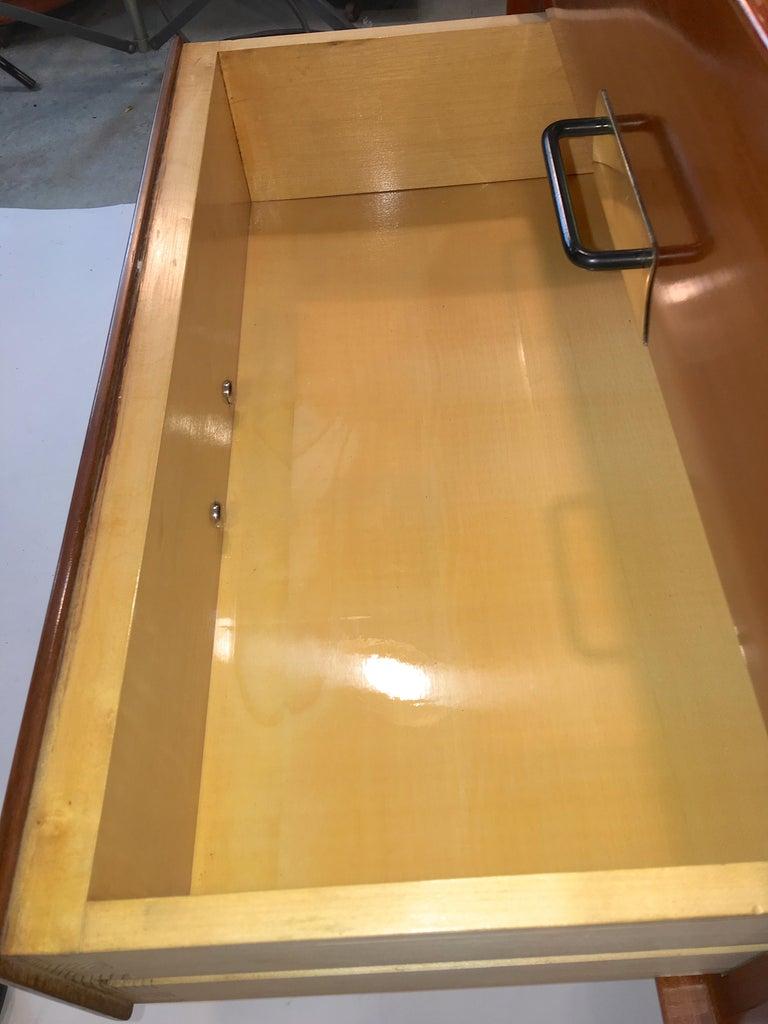 Silvio Cavatorta Mahogany Cabinet Mounted with Tilting Mirror For Sale 4