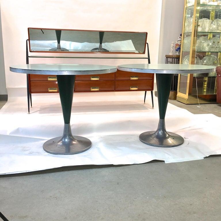 American Vintage Brunswick Bowling Centre Pedestal Tables For Sale
