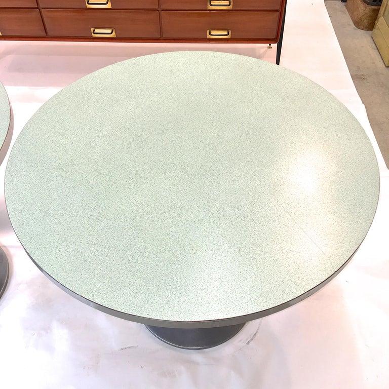 Vintage Brunswick Bowling Centre Pedestal Tables For Sale 1