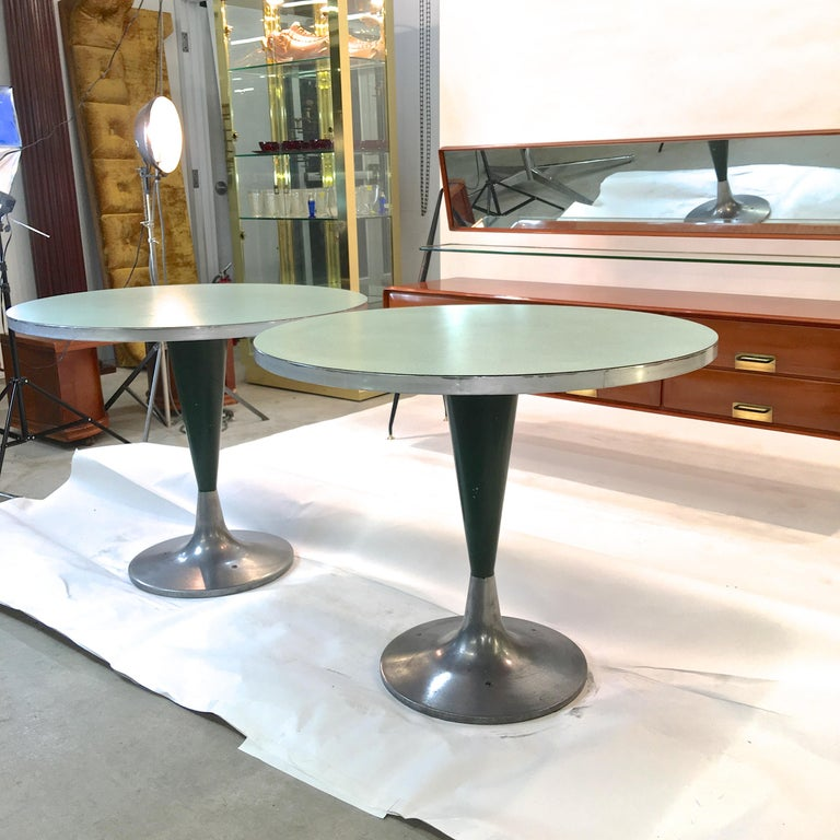 Vintage Brunswick Bowling Centre Pedestal Tables For Sale 5