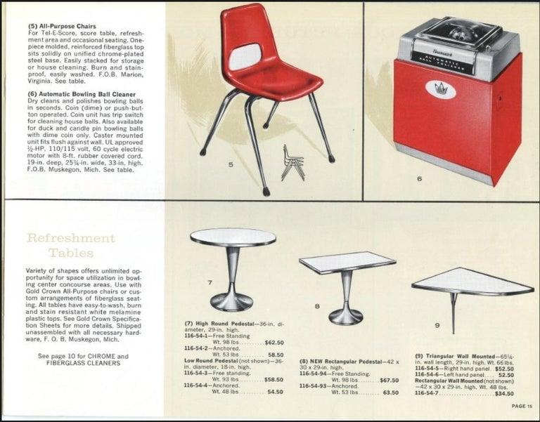 Vintage Brunswick Bowling Centre Pedestal Tables For Sale 7