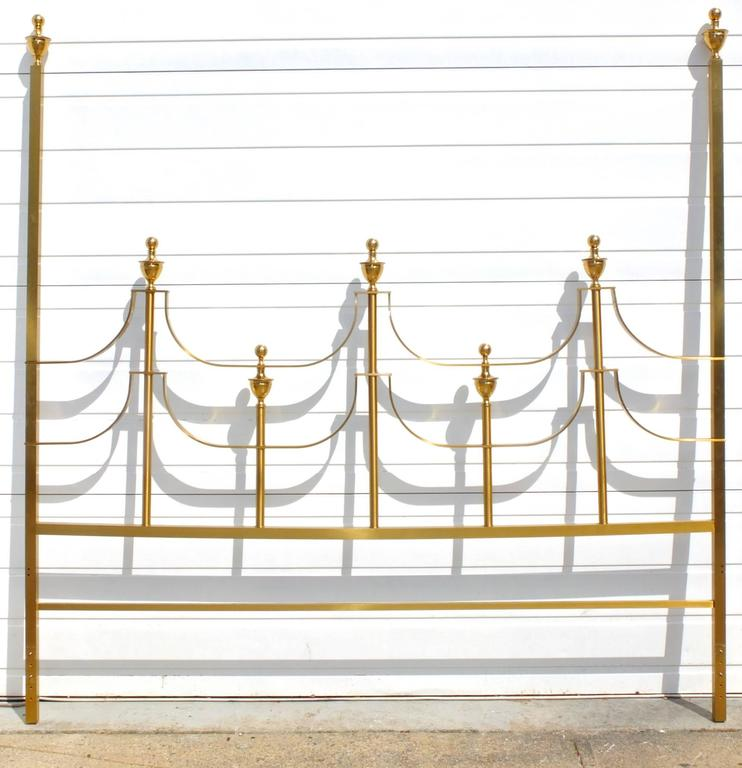 Mastercraft King-Size Brass Headboard by Joseph Braswell and Inman Cook 2