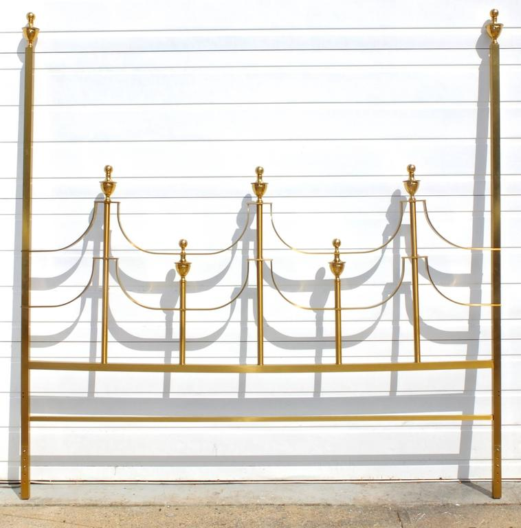 Mastercraft King-Size Brass Headboard by Joseph Braswell and Inman Cook 4