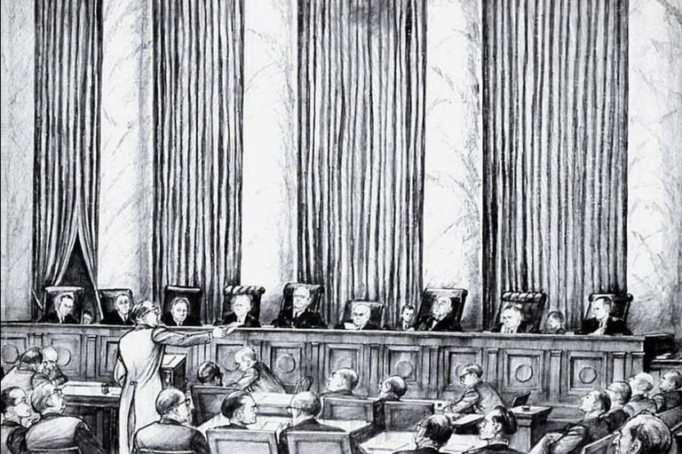William Sharp Lithograph of United States Supreme Court For Sale 1