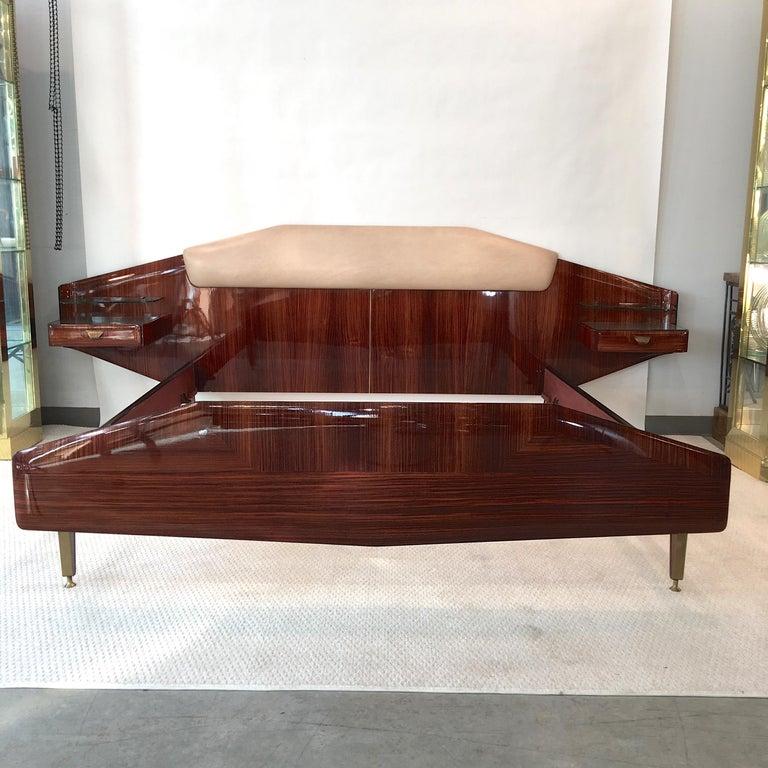 Silvio Cavatorta Pallisandro Queen Size Bed For Sale 3