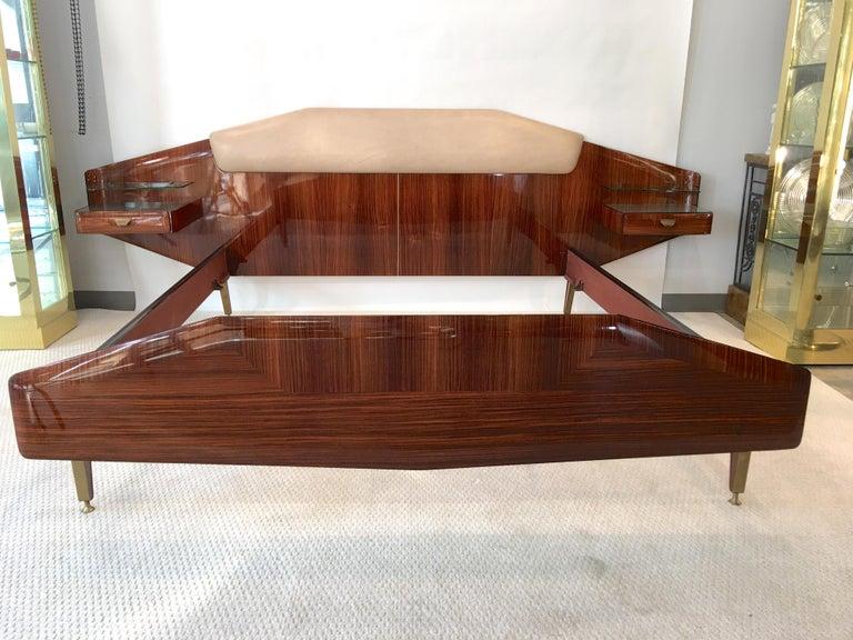 Silvio Cavatorta Pallisandro Queen Size Bed For Sale 7