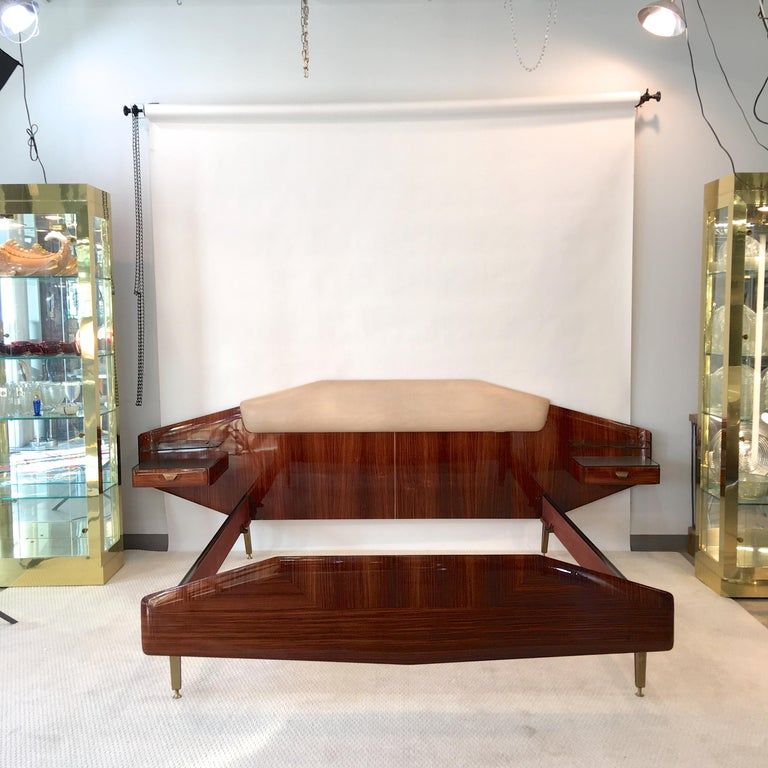 Silvio Cavatorta Pallisandro Queen Size Bed For Sale 8