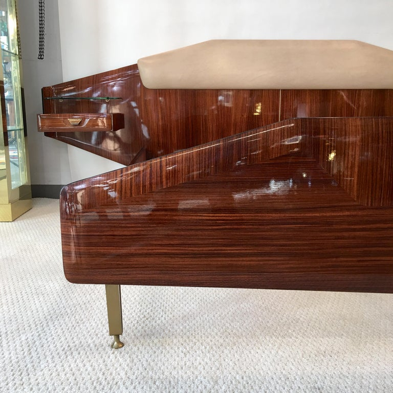 Silvio Cavatorta Pallisandro Queen Size Bed For Sale 10