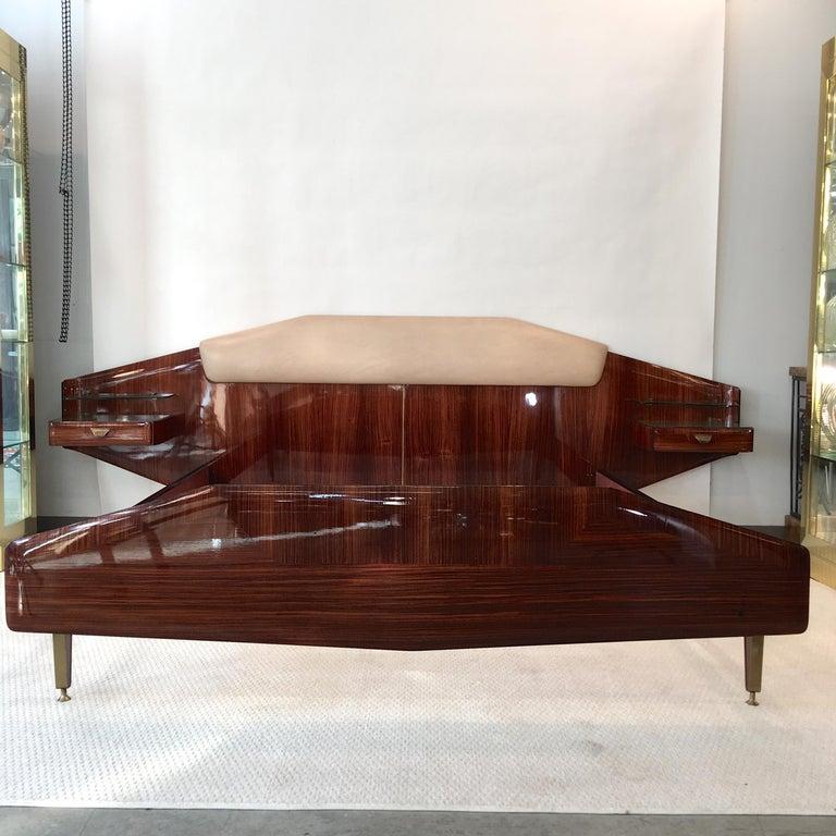Silvio Cavatorta Pallisandro Queen Size Bed For Sale 13
