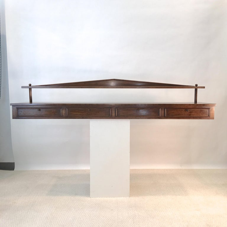 Ronnie Brahms for H. Sacks Wall Mounted Console Server For Sale 1