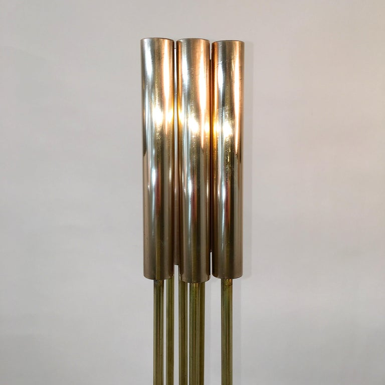 Contemporary 9-Rod Brass Kinetic Sculpture In Good Condition For Sale In Hingham, MA