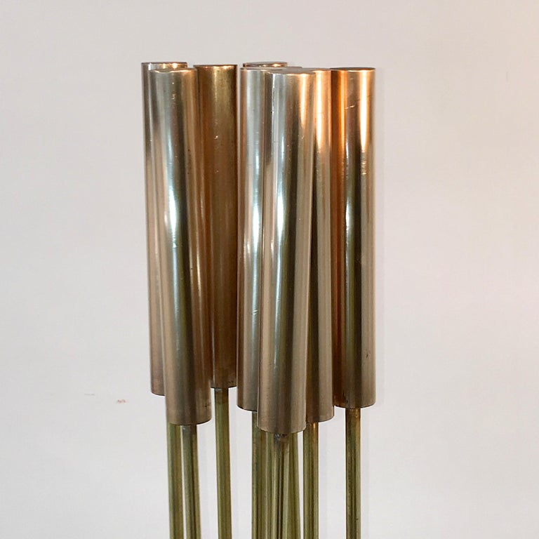 Contemporary 9-Rod Brass Kinetic Sculpture For Sale 7