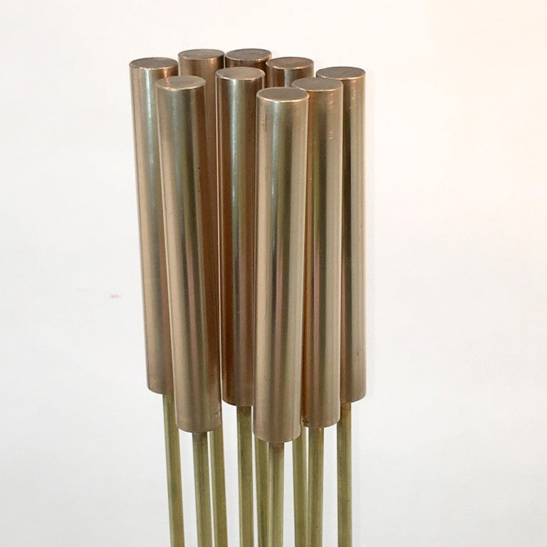 Contemporary 9-Rod Brass Kinetic Sculpture For Sale 8