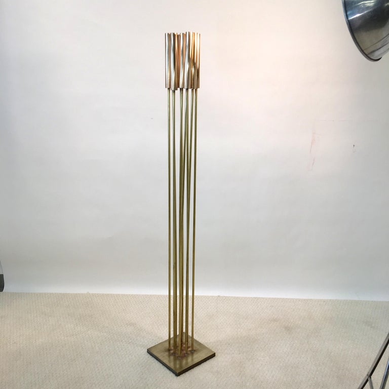 Contemporary 9-Rod Brass Kinetic Sculpture For Sale 9