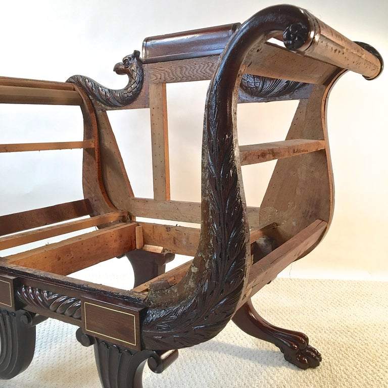 American Empire Mahogany Armchair For Sale 5