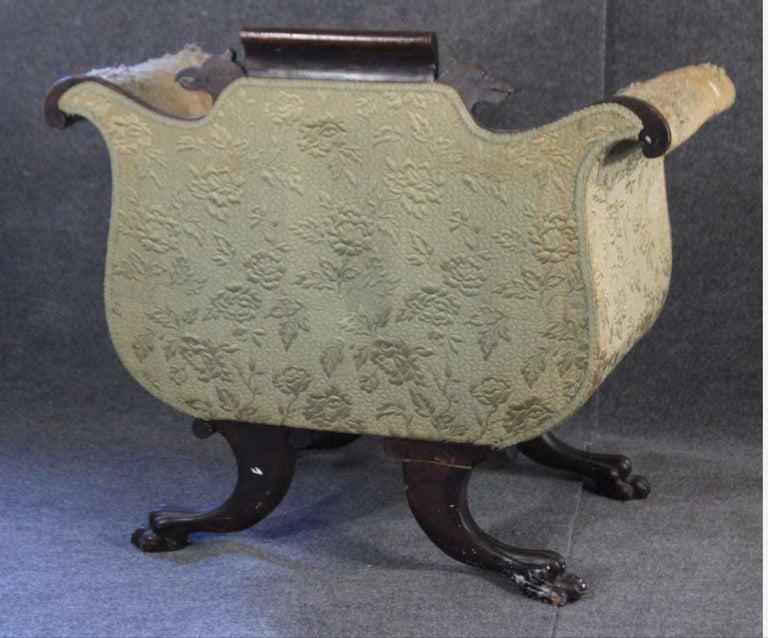 American Empire Mahogany Armchair For Sale 10