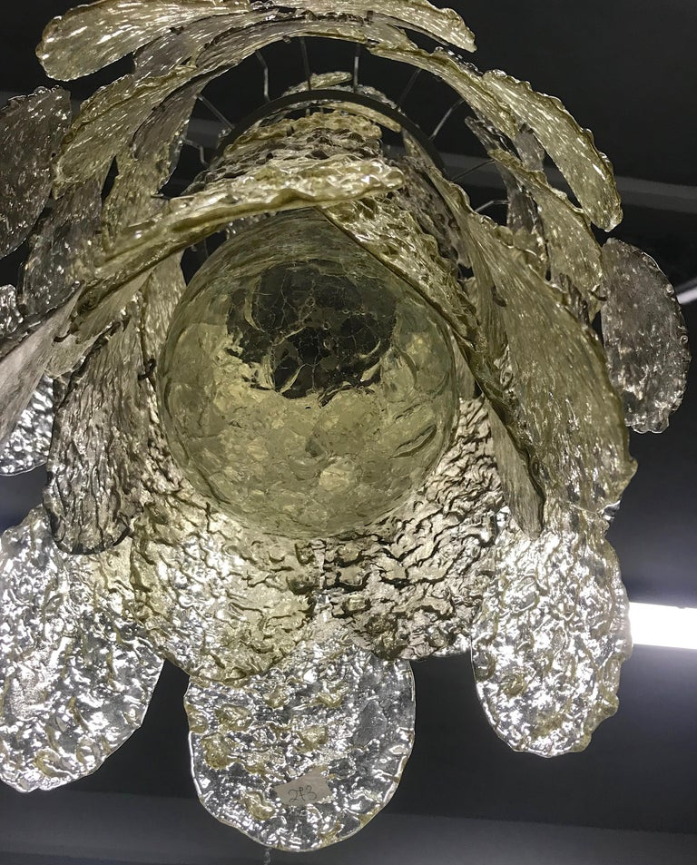 Mid-Century Modern Gino Vistosi Cascading Torcello Disk Chandelier For Sale