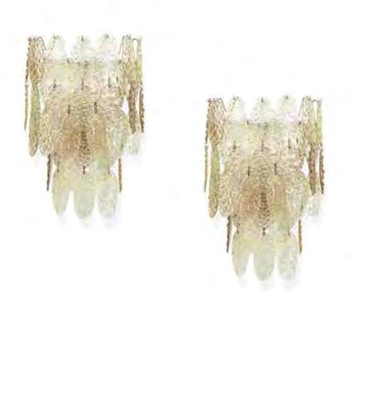 Gino Vistosi Torcello Murano Glass Disk Sconces For Sale 10