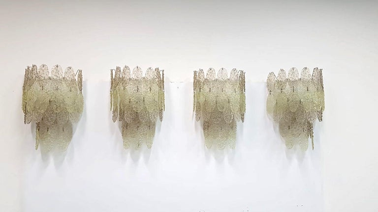 Mid-Century Modern Gino Vistosi Torcello Murano Glass Disk Sconces For Sale