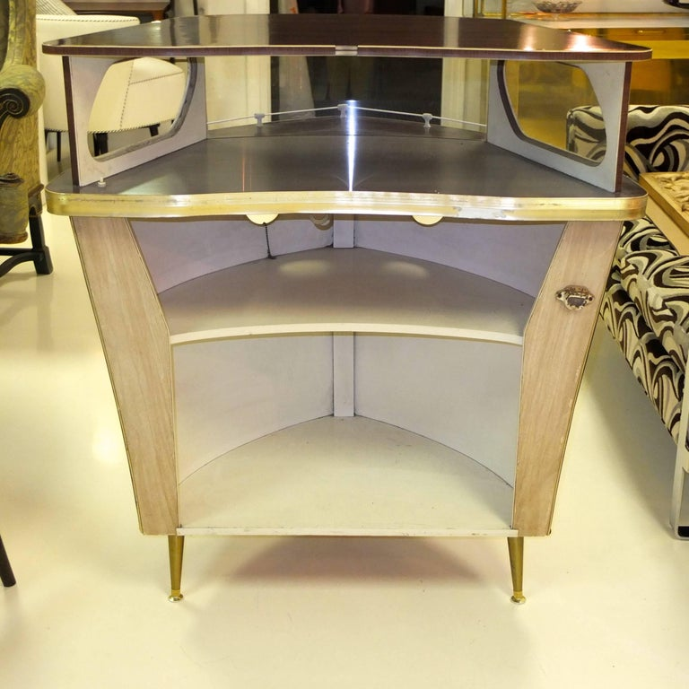 Umberto Mascagni Boat Form Cocktail Bar In Good Condition For Sale In Hingham, MA