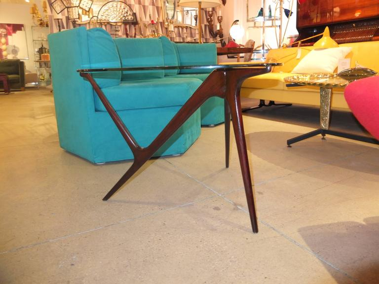 1950s Italian Occasional Table in the Style of Carlo Mollino For Sale 1