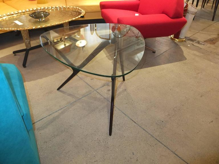 1950s Italian Occasional Table in the Style of Carlo Mollino For Sale 2