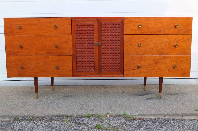 mid century modern double twin headboard for sale at 1stdibs. Black Bedroom Furniture Sets. Home Design Ideas