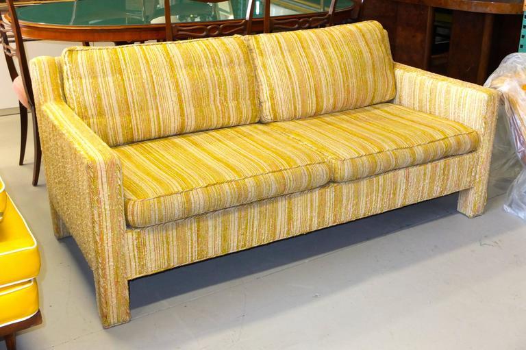 Mid-20th Century Edward Wormley for Dunbar Love Seat Sofa For Sale