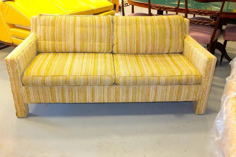 Edward Wormley for Dunbar Love Seat Sofa For Sale 2