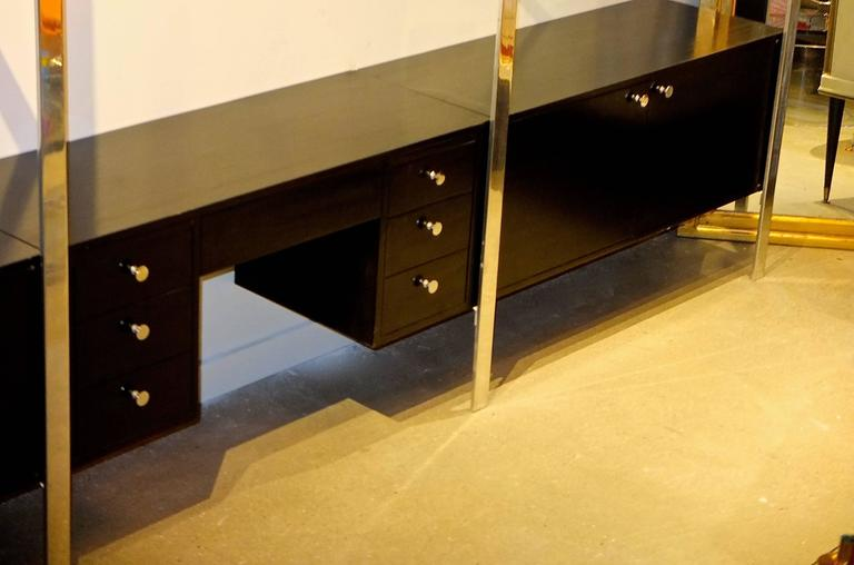 Ebonized Early 1970s Pace Collection Wall Unit For Sale