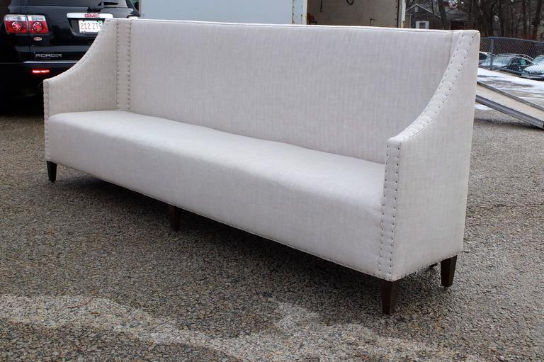 Upholstered High Back Banquette For Sale At 1stdibs