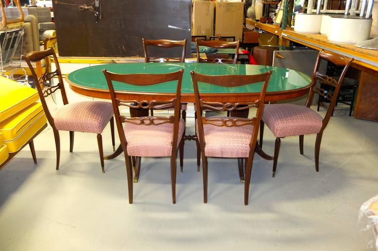 Set of Six 1950's Italian Dining Chairs For Sale 1