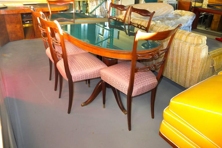 Set of Six 1950's Italian Dining Chairs For Sale 3