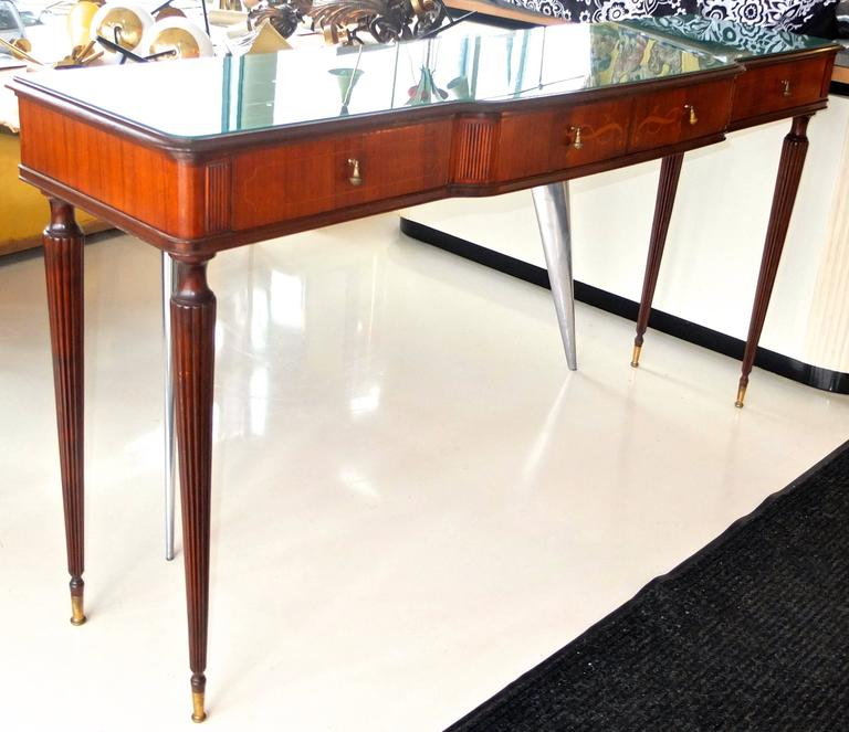 Paolo Buffa Style Rosewood and Mahogany Console Table 5