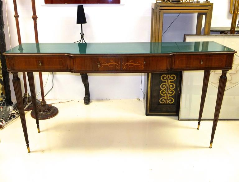 Paolo Buffa Style Rosewood and Mahogany Console Table 6
