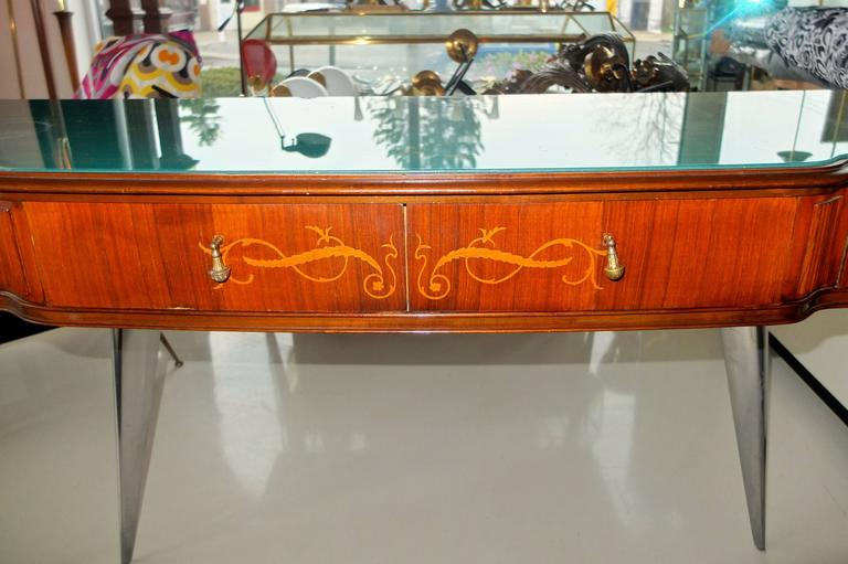 Paolo Buffa Style Rosewood and Mahogany Console Table 3