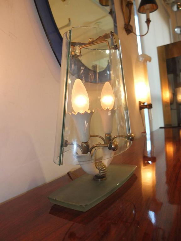 Glass Rare Table Lamp Attributed to Pietro Chiesa for Fontana Arte For Sale