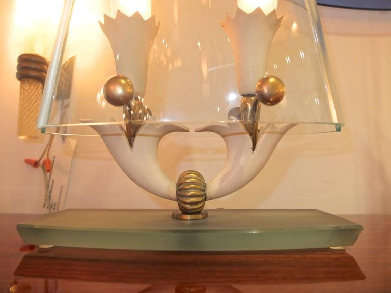 Italian Rare Table Lamp Attributed to Pietro Chiesa for Fontana Arte For Sale