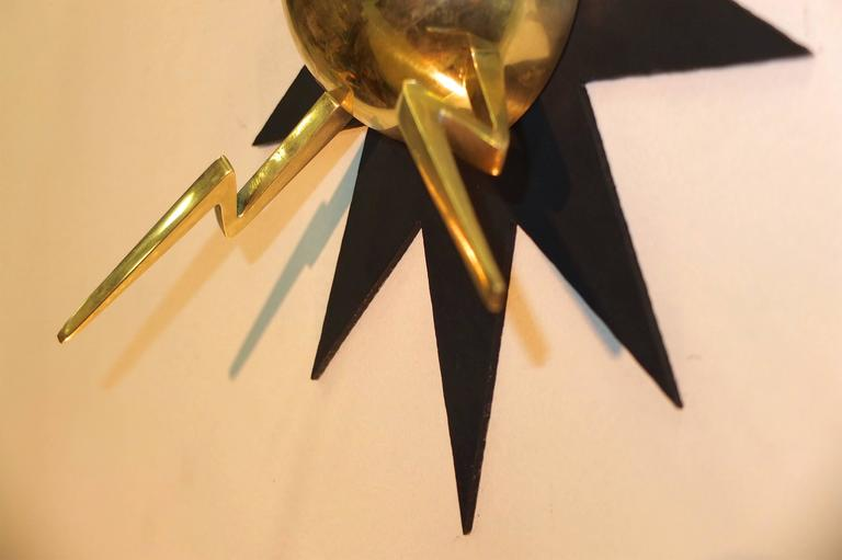 Pair of French 1950s Sputnik Sconces from Casino de Clichy In Excellent Condition For Sale In Hingham, MA