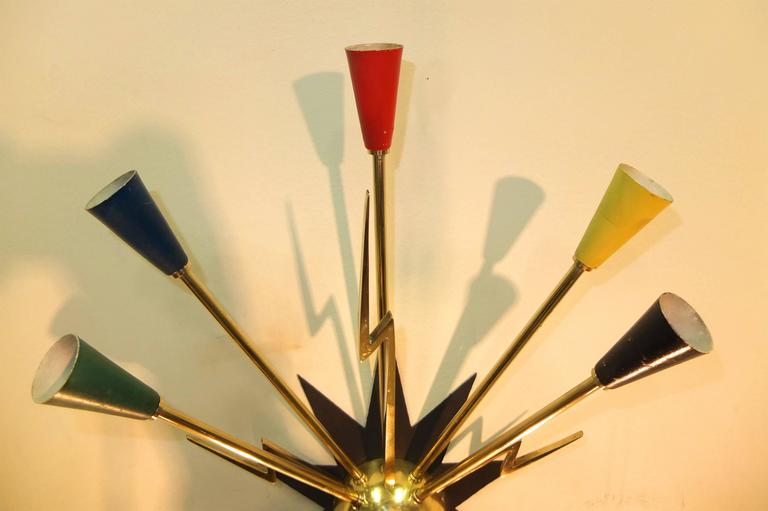 Pair of French 1950s Sputnik Sconces from Casino de Clichy For Sale 3