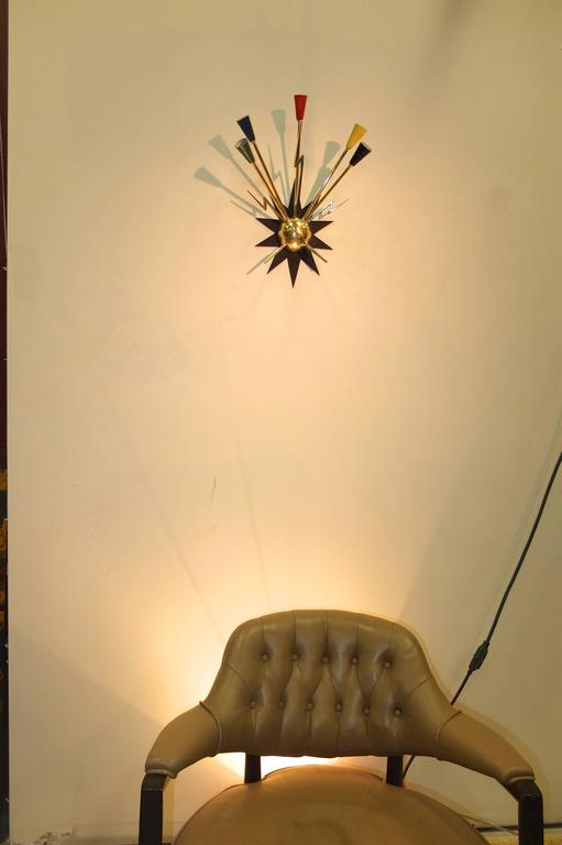 Pair of French 1950s Sputnik Sconces from Casino de Clichy For Sale 2