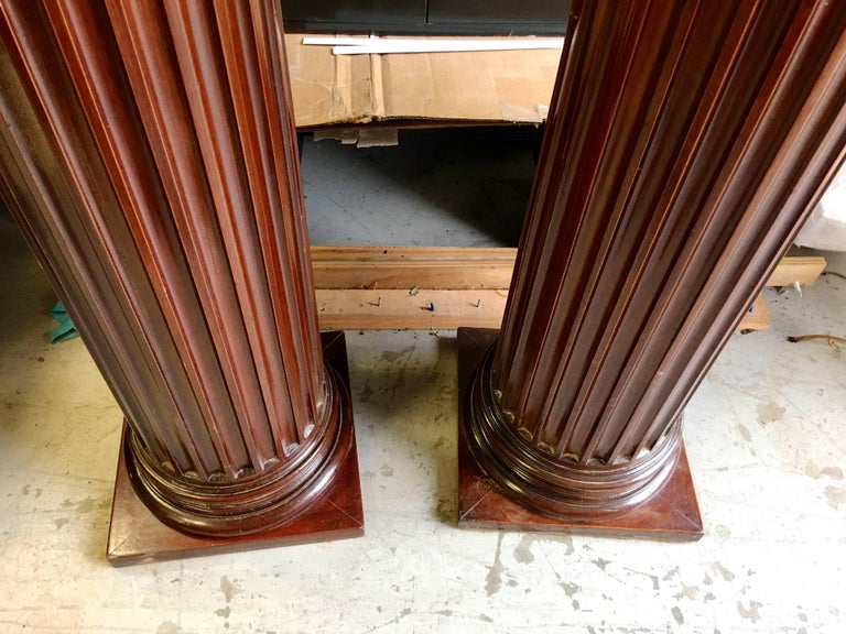 Pair of Antique Mahogany Columns 3