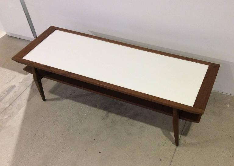 Bertha Schaefer for M. Singer & Son's Bi-Level Cocktail Table In Excellent Condition For Sale In Hingham, MA