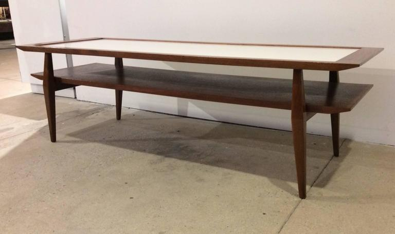 Mid-20th Century Bertha Schaefer for M. Singer & Son's Bi-Level Cocktail Table For Sale