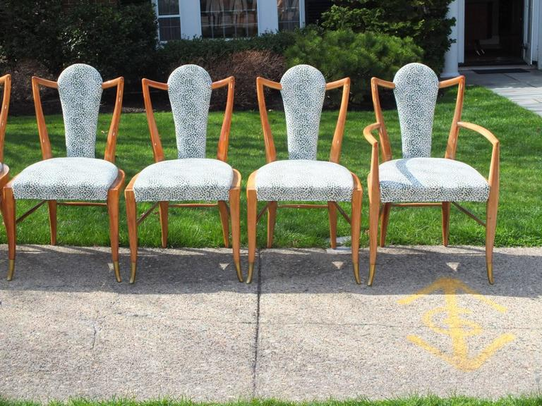Set of Eight 1950s Dining Chairs by Adolfo Genovese 3