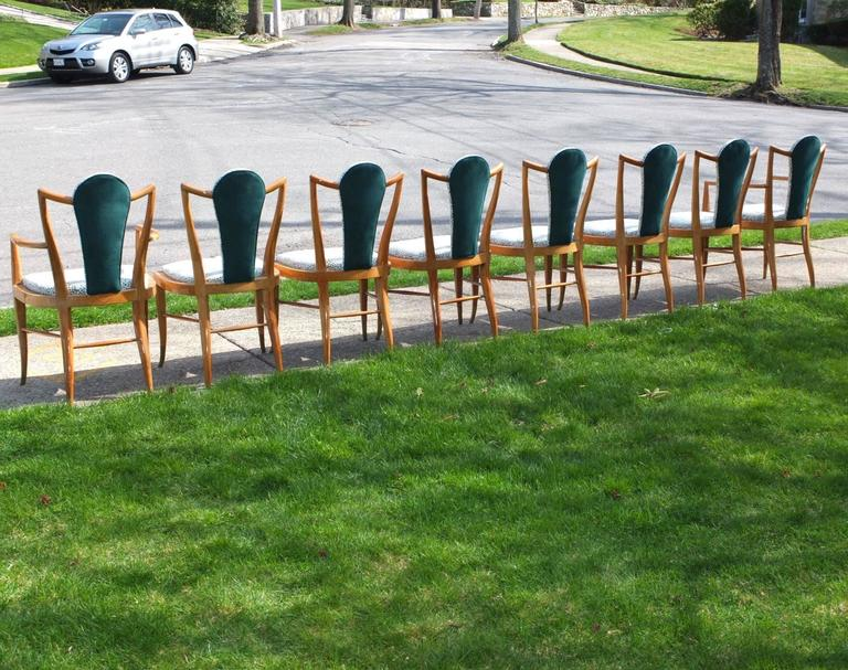 Set of Eight 1950s Dining Chairs by Adolfo Genovese 5