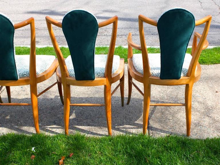 Set of Eight 1950s Dining Chairs by Adolfo Genovese 6