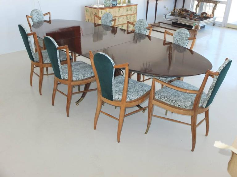 Set of Eight 1950s Dining Chairs by Adolfo Genovese 4